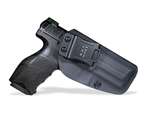 B.B.F Make IWB KYDEX Holster Fit: Heckler & Koch (H&K) VP9 VP40 | Retired Navy Owned Company | Inside Waistband | Adjustable Cant | US KYDEX Made (Black, Right Hand Draw (IWB))