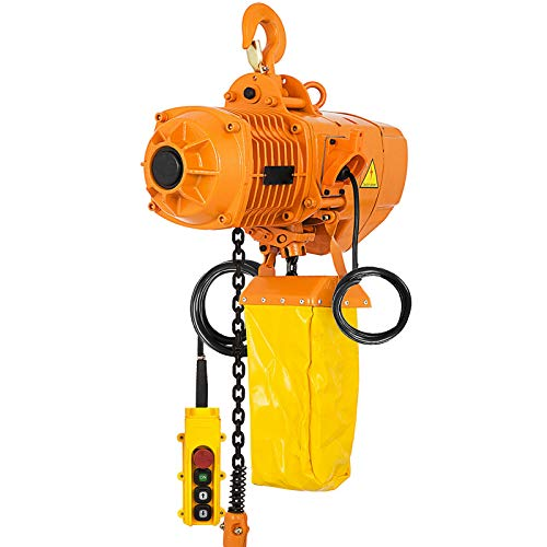 Mophorn 1 Ton Electric Chain Hoist Single Phase 2200Lbs 10ft Lift Height Electrical Hook Mount Chain Hoist G80 Chain Hoist Lift Electric Hoist Double Chain with Pendant Control (1T 110V)
