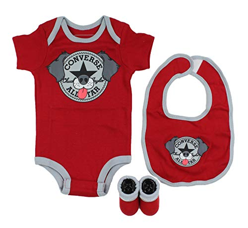 Converse Baby 3-Piece Layette Set (Red/Dog (029), 0-6 Months) ()