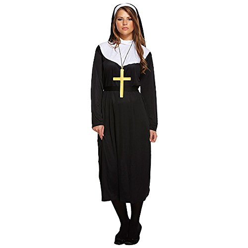 Ladies Traditional Catholic Nun Uniform Religious Fancy Dress