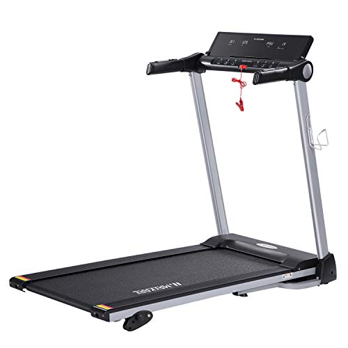 MaxKare Treadmill Portable Folding Home Run Exercise Machine with Manual Incline Electric Treadmill Workout with LCD Screen & Cup Holder with 15 Pre-Set Programs 2.5HP Power Wide Tread Belt