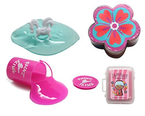 Girl Themed Slime and Putty Toy Sampler Bundle - Tactile and Sensory Toys for Children