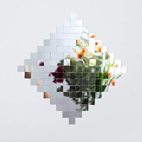 Self-Adhesive Mini Square Glass, Decorative Craft DIY Accessory Mirrors Mosaic Tiles (10 x 10 mm, 800 Pieces)