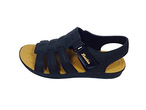 BATA Men's Tan PVC Floater Sandals - 6