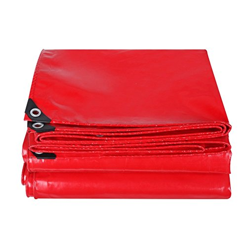 今落ち着く社会主義LIXIONG オーニングターポリン テント PVC お祝い 断熱 耐寒性 増粘 日焼け止め カーポート 、14サイズ 、500G /㎡ 、0.45mm (色 : Red, サイズ さいず : 4.8x5.8m)