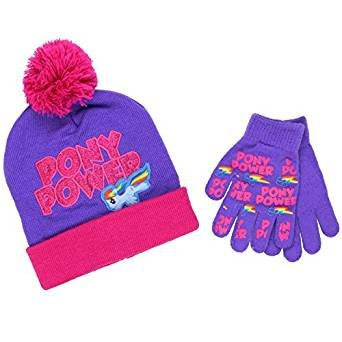 cd0197e8e83 Amazon.com  My Little Pony Youth Beanie Hat and Gloves Set (One Size ...