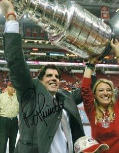 Autographed Peter Laviolette Photograph - Carolina Hurricanes 8x10 - Autographed NHL Photos