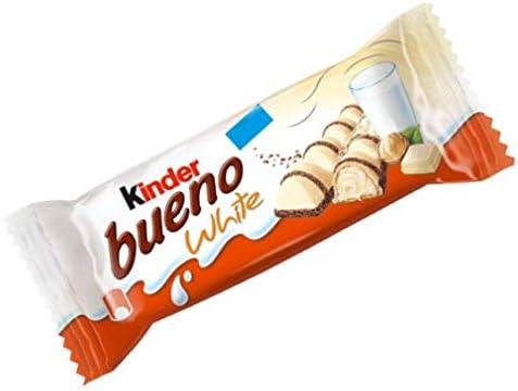 15x Kinder Ferrero Bueno White Chocolate Bar Snack (39g): Ferrero ...