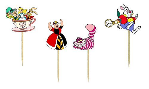 Alice In Wonderland Inspired Cupcake Toppers