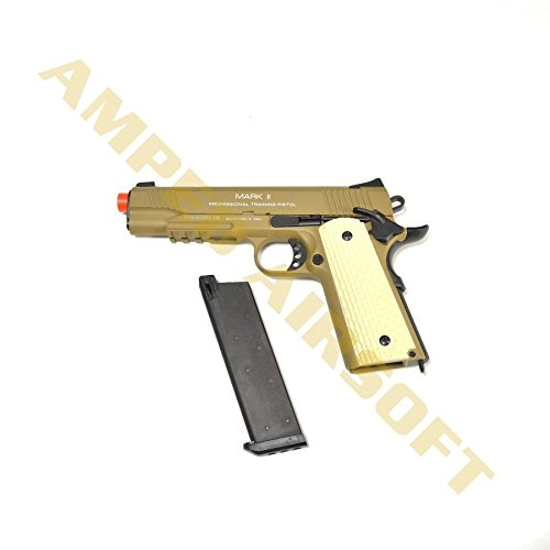(KWA 1911 MK II PTP 6mm 21rd Dark Earth Airsoft Pistol)