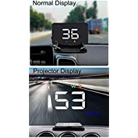 3.5 Inches GPS Speedometer Head-up Display Car Speed in Large Font, Reflect on Windshield or See on The HUD Screen Directly, Connect Car Cigarette Lighter to Use