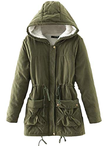 Quilted Hood Pockets Lamb Splicing Women's Drawstring security Wool Jacket Stylish with 2 zq1BEwAx
