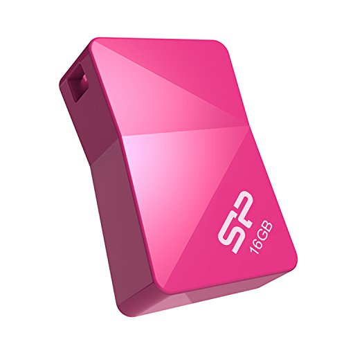 (Silicon Power 16GB Touch T08 Ultra Compact USB 2.0 Flash Drive, Great for Gift Idea - Pink (SP016GBUF2T08V1H))
