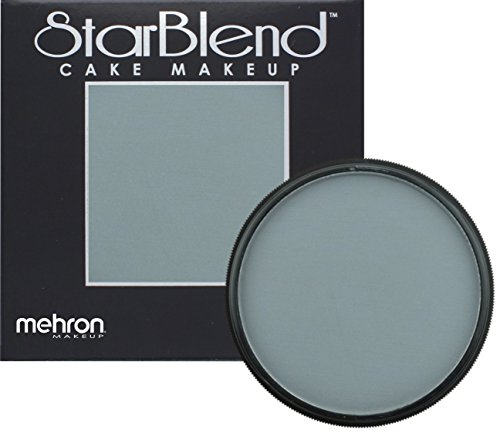 [Mehron Makeup StarBlend Cake Makeup MONSTER GREY – 2oz] (Costume Makeup Wax)