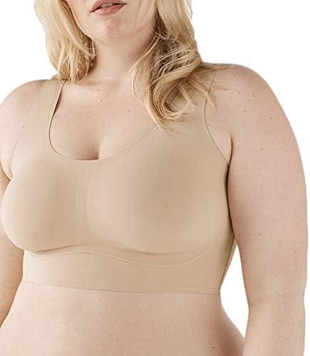 Ganghuo Real Plus Size Comfort BH voor Vrouwen Draadloze Brede Bandjes Rekbaar Ademend Ondergoed voor Yoga Fitness