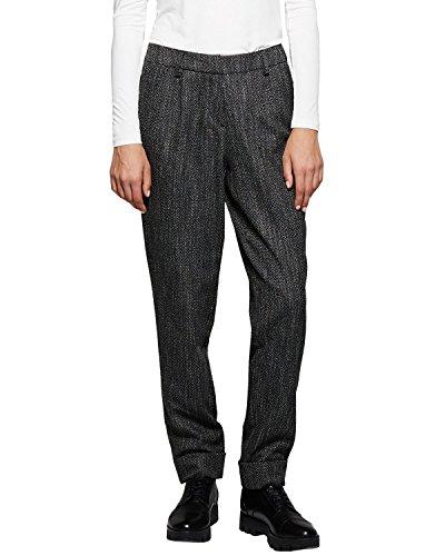Para grey Grau Comma Ci 98k5 Pantalones black Dobby Mujer gTwEPZqEx