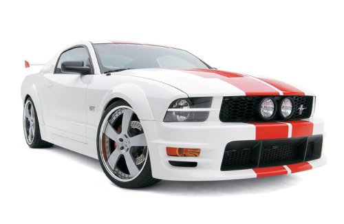 3dCarbon 691045 05-09 Ford Mustang Boy Racer 16pc Ground Effects Kit w/ Ducktail spoiler Wing, Quarter Window Scoops, Quarter Panel Scoops, Hood Scoop, Taillight Blackout Panel and U-Shape ()