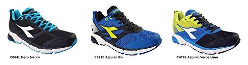 Diadora Action II Schuhe Running Herren A3ART.160505. Corsa C4791-Azzurro Verde Lime