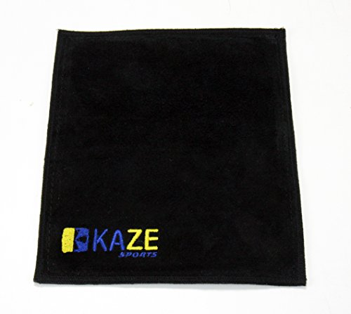 KAZE SPORTS Premium Leather Shammy Pad Bowling Ball Cleaning Towel (1)