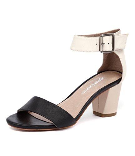 Black Beige BEIGE JULIETTE Womens Beige amp; DJANGO BLACK LEATHER Leather DARK Beige Dark Heels Blk Shoes Cassier Womens BEIGE 5H0qRqYw