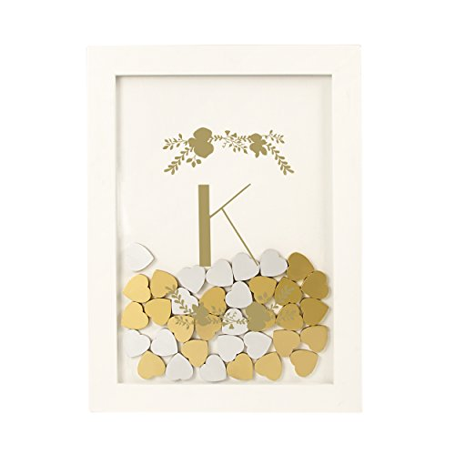 Cathy's Concepts Floral Heart Drop Guestbook, White by Cathy's Concepts