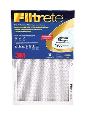 Filtrete Healthy Living Ultimate Allergen Reduction Filter, MPR 1900, 14 x 25 x 1-Inches, 6-Pack