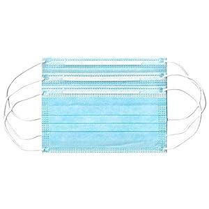 Lot de 50 masques de protection respiratoire à 3 couches – Protection contre la poussière – Protection contre la bouche…