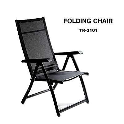 TechCare Heavy Duty Durable Adjustable Reclining Folding Chair Outdoor Indoor Garden Pool from Otto Trading Inc