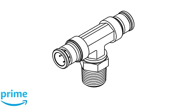 Tube to Pipe Swivel Branch Tee Tompkins 272PP-04-04-04 Poly Push Fitting 1//4 x 1//4 x 1//4-18 Brass 1//4 x 1//4 x 1//4-18