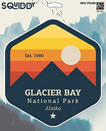 "Glacier Bay National Park Sticker 3/"""