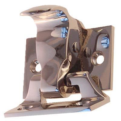 Nickel Finish Window Spring Loaded Sash Lock & Lift | Antique Reproduction Double Hung Window Hardware for Vintage & Modern Furniture + Free Bonus (Skeleton Key Badge) | WS-79N (6) by UNIQANTIQ HARDWARE SUPPLY (Image #2)