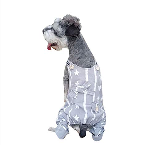khdug❤ Pet Dog & Cat Shirt,New Sunshade Spring and Summer Breathable Cute Star Printed Clothes Costume ()