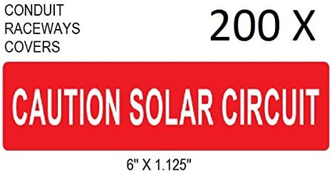 Solar PV Vinyl Label Warning Power Source and AC Disconnect UV Resistant