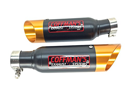 Coffman's Twin Shorty Exhausts for Suzuki Hayabusa GSXR 1300 (2008-2019) Sportbike with Gold Tips