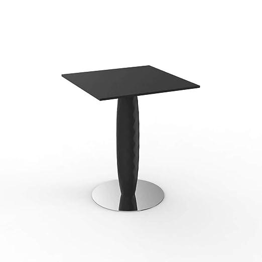 Vondom Vases mesa con base inox y tablero cuadrado HPL 60x60 cm ...