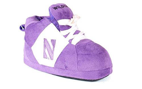 Happy Feet Menns Og Kvinners Offisielt Lisensiert Ncaa College Sneaker Tøfler Nordvestlige Wildcats