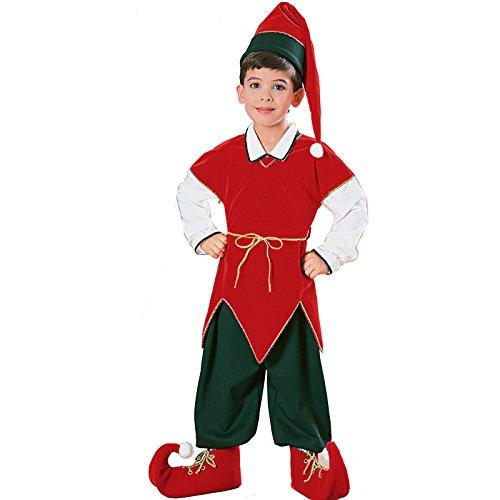 (Rubie's 10129 Children velvet Elf Suit Costume, Medium,)