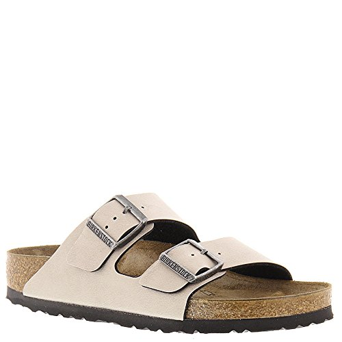 Birkenstock Women's Arizona Birko-Flo Stone Birko-flor Pull Up Sandals - 38 M EU / 7-7.5 B(M) US Women / 5-5.5 D(M) US Men