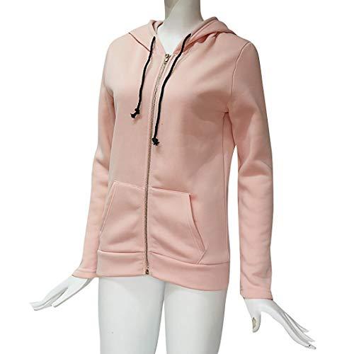 Casual Lunghe shirt Elegante Tops Maniche Autunno Camicie Rosa Moda Capispalla Camicette Zipper Con Cappuccio Di T Cappotto Vendita Felpa Soprabito Liquidazione Giacca 67ZqHR