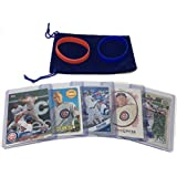 Javier Baez Baseball Cards (5) ASSORTED Chicago Cubs Trading Card and Wristbands Gift Bundle
