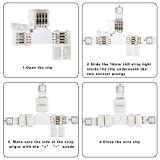 10 Pieces T Shape 4 Pin Connector SUPERNIGHT 10mm
