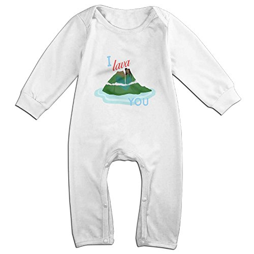 MoMo I Lava You Volcano Baby Romper Bodysuit Outfits 6 M (12 Days Of Halloween Chords)