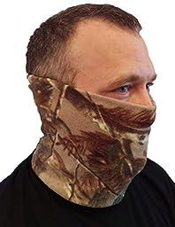 Neck Gaiter Camo Polar Fleece 2-in-1 Microfiber Neck Warmer and Face Mask (Camo FBA)