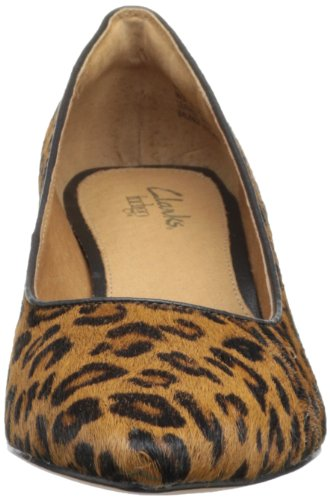 Clarks Sage Copper Damen Beige Haar Pelz Pumps Schuhe Neu EU 37