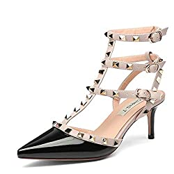 Studded High Heel Sandal With Pointed Toe