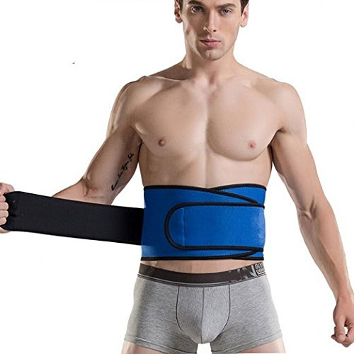 Goege Men's Waist Trainer Belt - for Unisex Breathable Postpartum Belly Band Tummy Control Workout Fitness Back Support Waist UP to 41 INCH