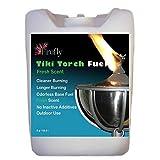 Firefly Bulk Fresh Eucalyptus Scent Tiki Torch Fuel - Significantly Longer Burn - Odorless - Less Smoke - Gold Standard - 5 Gallons