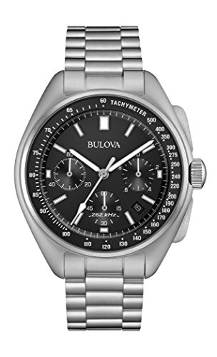 Bulova Men's Lunar Pilot Chronograph Watch 96B258 (Omega Speedmaster Chronometer)