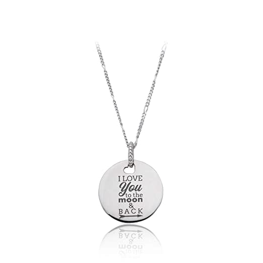 dc970f0d28 Image Unavailable. Image not available for. Color: Pandora I Love You to  The Moon & Back Necklace ENG397122360
