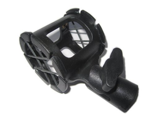 Jbbtop1 Shotgun Microphone Suspension Shock Mount Holder Clip for Pencil Condenser MA-9024 Mic Rubber Clamp 15-38mm